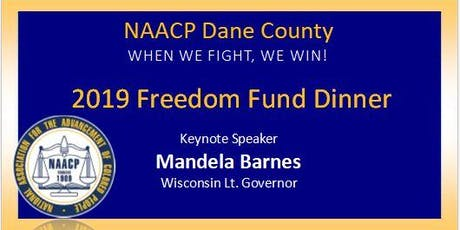 NAACP DANE COUNTY 2019 FREEDOM FUND DINNER tickets
