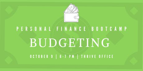 Personal Finance Bootcamp: Budgeting tickets