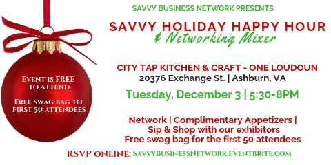 Savvy Holiday Party & Networking Mixer