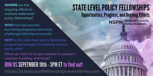 State Level Policy Fellowships: Opportunities, Progress and Ongoing Efforts