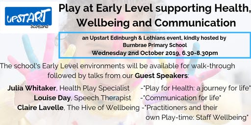 Play at Early Level supporting Health, Wellbeing & Communication