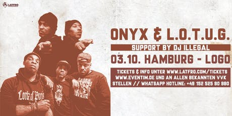 Onyx & Lords Of The Underground Live in Hamburg - Donnerstag, 03.10. Logo Tickets