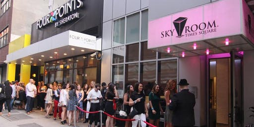 FREE ADMISSION ROOFTOP PARTY FRIDAY NIGHT| SKY ROOM  NYC TMES SQUARE
