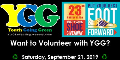 Volunteer with Youth Going Green: Best Foot Forward tickets
