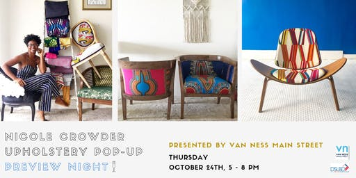 Nicole Crowder Upholstery PopUP Preview Night