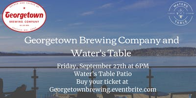 Georgetown Brewery Beer Dinner at Water's Table Patio