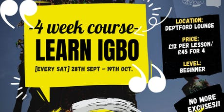 Beginner Igbo Lessons (4 Week Course) tickets