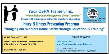 Injury & Illness Prevention Program Training tickets