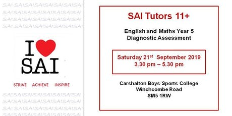 SAI Tutors 11+ English and Maths Year 5 Diagnostic Assessment  tickets