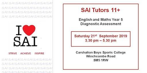 SAI Tutors 11+ English and Maths Year 5 Diagnostic Assessment