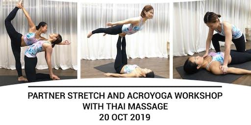 Partner Stretch & Acroyoga Workshop (with Thai Massage) with Alice & Karen