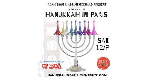 Hanukkah in Paris at the Hotel Kabuki
