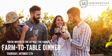 Autumn Meet the Farmer Dinner Hosted by DeMaranville Farm & Longfellows tickets
