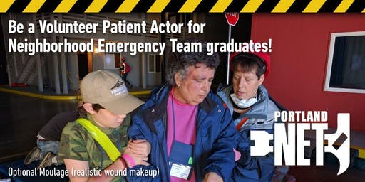 Be a Volunteer Patient Actor for NET (Emergency scenarios)