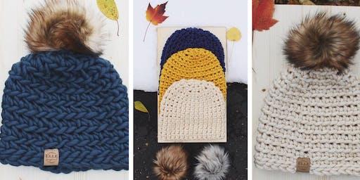 Beginner Crochet Cowl & Hat Class for Adults
