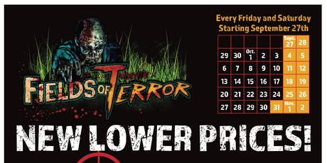 Fields of Terror Zombie Paintball Hayride and Haunted House tickets