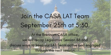 CASA Legislation Advocacy Team (LATs) Recap tickets