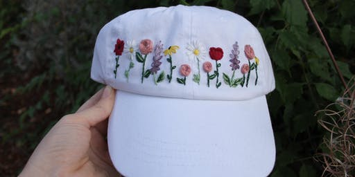 Hat Embroidery Workshop: PNW Wildflowers