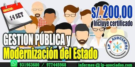 Gestión Publica y Modernización del Estado (S/. 200.00) entradas