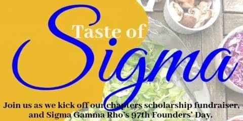 Taste of Sigma - Scholarship Fundraiser Soup and Salad Luncheon