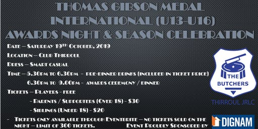 Thirroul JRLFC - Thomas Gibson Medal Awards Night and 2019 Season Celebration