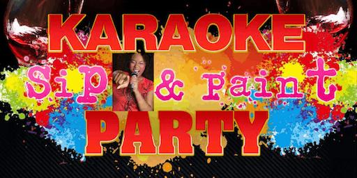 Karaoke  Sip  &  Paint