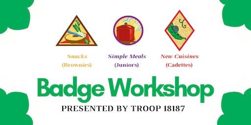 Girl Scout Troop 18187 Badge Workshop