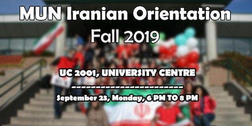 MUN Iranian fall 2019 Orientation