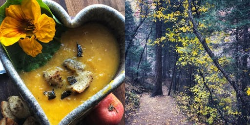 Eating with the Seasons: Fall Roasted Butternut Squash Soup  +  Pear Salad with Creamy Walnut Vinaigrette