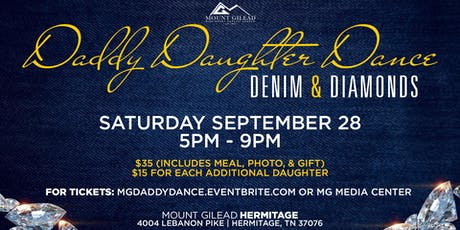 Mount Gilead presents the Denim & Diamonds Daddy Daughter Dance tickets