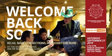 Newman Welcome Back Dinner '19 tickets