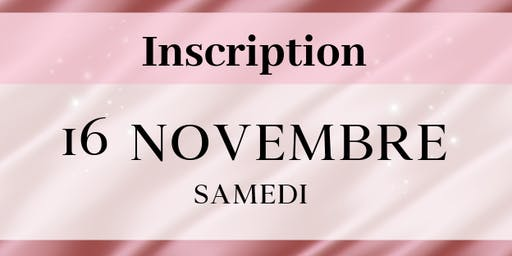 Samedi 16 novembre 2019 - Inscriptions stands VIDE DRESSING