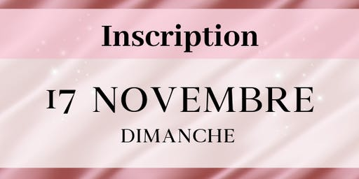 Dimanche 17 novembre 2019 - Inscriptions stands VIDE DRESSING