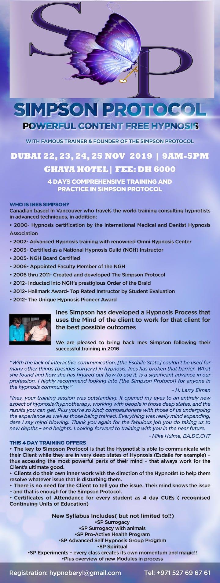 Simpson Protocol with Ines Simpson in Dubai Tickets, Fri