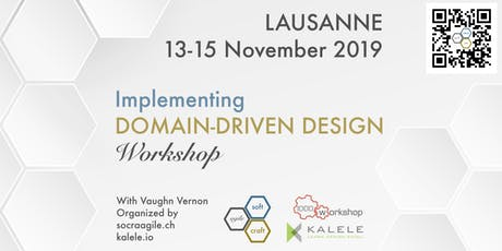Intensive, 3-Day, hands-on IDDD Workshop by Vaughn Vernon in Lausanne (CH) billets