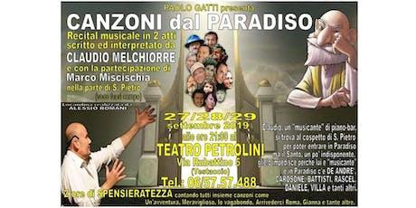 Canzoni dal paradiso biglietti