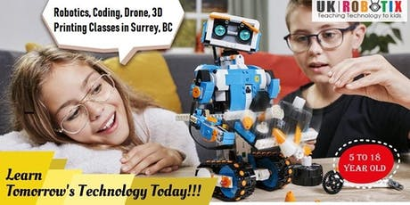STEM/Robotics/Coding classes for Kids in Surrey, BC (Ages 5-18) tickets