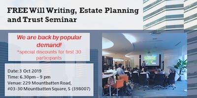 FREE Will Writing, Estate Planning & Trust Seminar