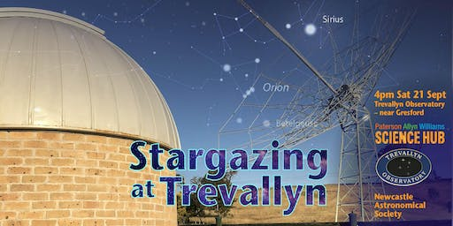 Stargazing at Trevallyn with the Paterson Allyn Williams Science Hub - Sept