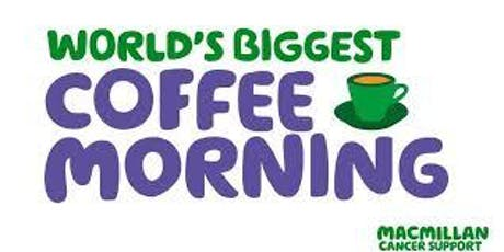 MACMILLAN WORLDS BIGGEST COFFEE MORNING tickets