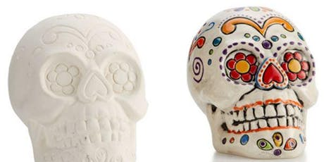 Halloween Pottery Skull Painting Workshop tickets
