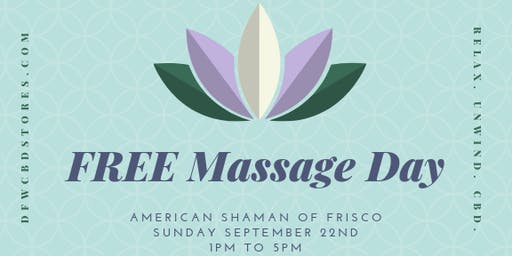 FREE CBD Massage Day | Frisco