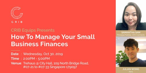 CRIB Equip presents: How to Manage Your Small Business Finances