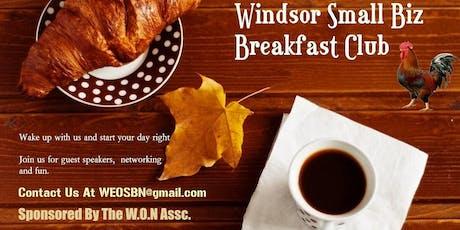 W.O.N Small Biz Breakfast Sept 25th 8:30 To 10:30 Lumberjack Restaurant tickets