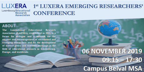 1st LuxERA Emerging Researchers' Conference  billets