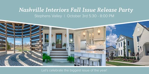 2019 Nashville Interiors Fall Issue Release Party