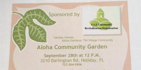Aloha Community Garden Seminar. With FREE Lunch tickets