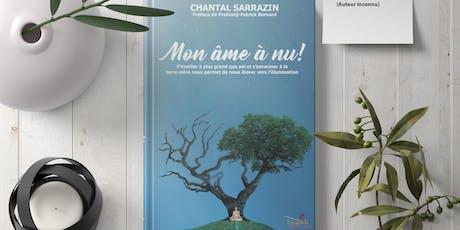 Lancement de livre Mon âme à nu! tickets