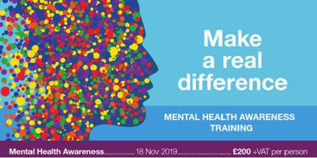 Mental Health Awareness 1-Day Programme 18th Nov 2019 tickets