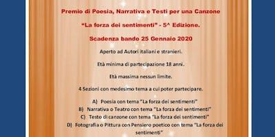 """5^ Edizione Premio """"La forza dei sentimenti"""" al via. Scade il 25/01/2020"""